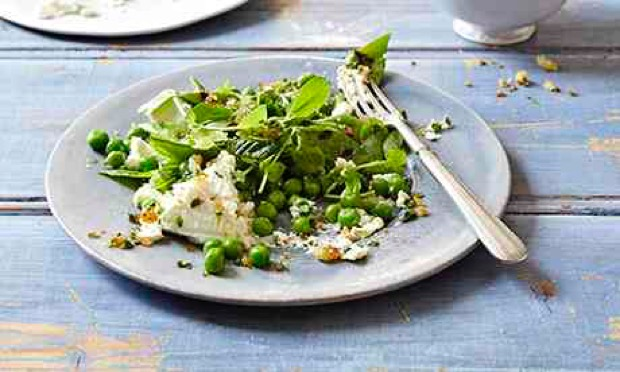 Peas, mint and ricotta